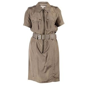 Burberry Belted Zip- Up Dress